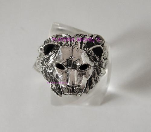 anillo de leon en plata ley 0.925 garantizada