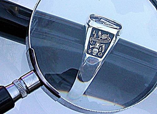 anillo de mason aguila bicefala en plata fina ley.925