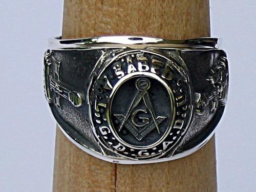 anillo de mason g sabed en plata fina ley.925