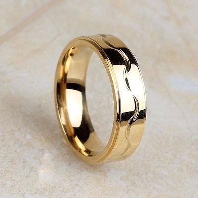 anillo de matrimonio con baño en oro 18k + estuche