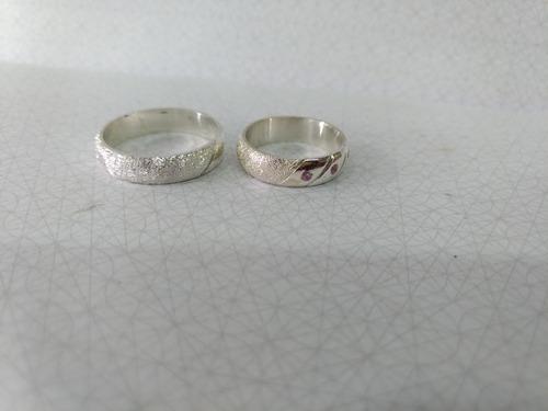 anillo de matrimonio en plata de ley 925 garantizado