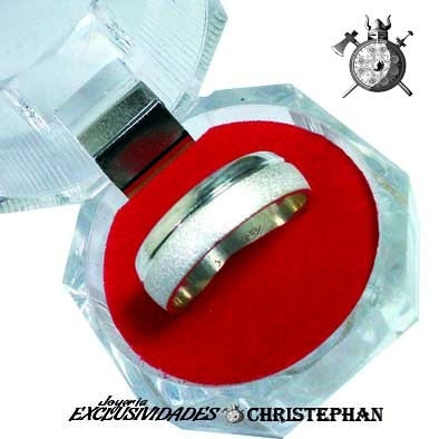 anillo de matrimonio en plata por unidad