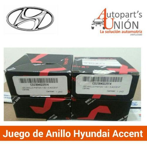 anillo de motor 0.40 de hyundai accents