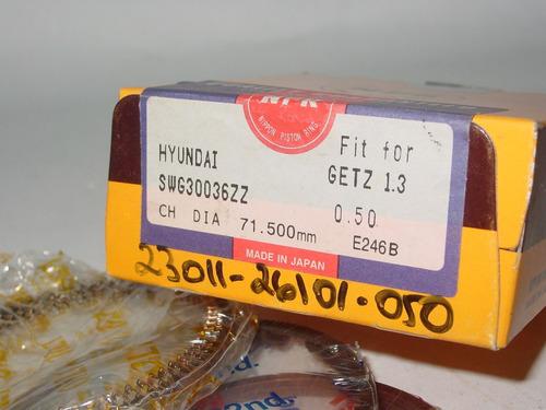 anillo de motor hyundai getz 1.3 0.50=0.20