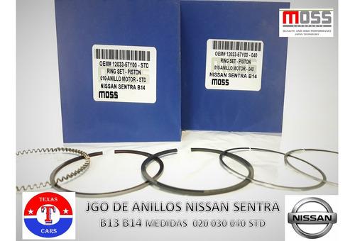 anillo de motor nissan sentra b13 b14 020 030 040 std