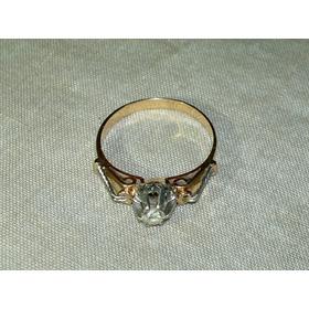 Anillo De Mujer 18k. Oro Blanco Y Diamante