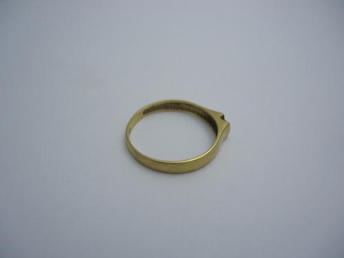 anillo de oro 18 k y brillante