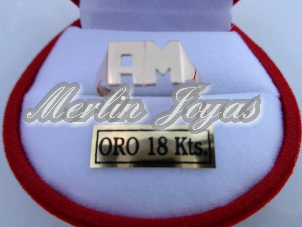 68c5e43838cf anillo de oro 18k doble inicial economico-2 gramos - m. j. -. Cargando zoom.