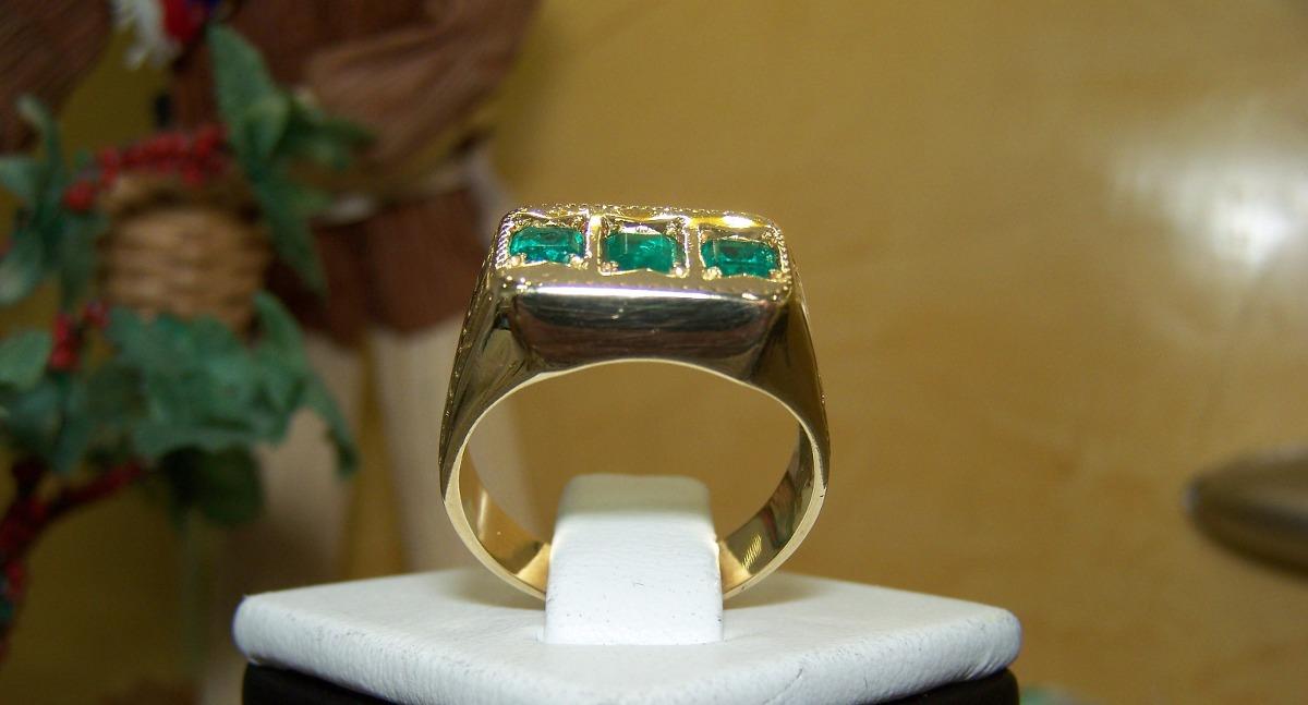 bf3e6b5ccb64 Anillo De Oro 18k Para Hombre Esmeraldas Piedras Joyas -   2.800.000 ...