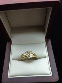 aafb2d40b822 Anillo De Oro Amarillo 8k Italy Con Diamantes