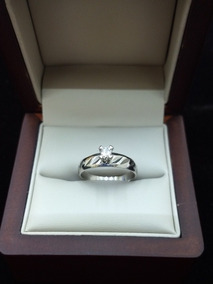 2da658322190 Anillo De Oro Blanco 10k Con Diamante Solitario compromiso