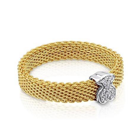 f6dfde9e7c9a Anillo De Oro Blanco Con Diamante Accesorios Para Mujer Fb -   3.749 ...