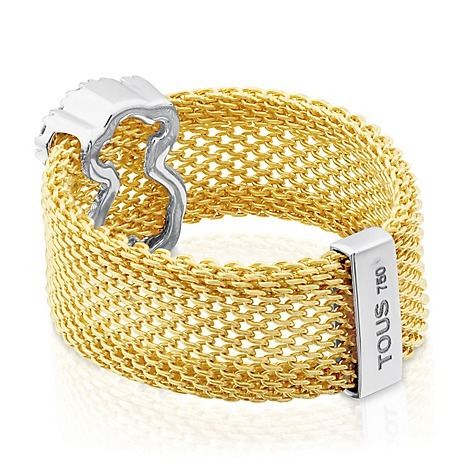 364268502f58 Anillo De Oro Blanco Con Diamante Acero Accesorios Mujer Fb ...