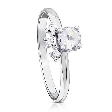 c0829cb0a7fa Anillo De Oro Blanco Con Diamantes Accesorios Para Mujer Fb ...
