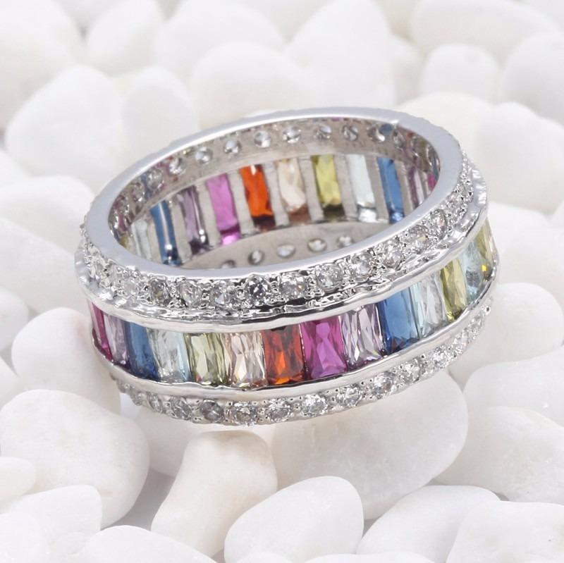 de8a7a6610cf anillo de piedras de colores plata 925 unicas piezas. Cargando zoom.