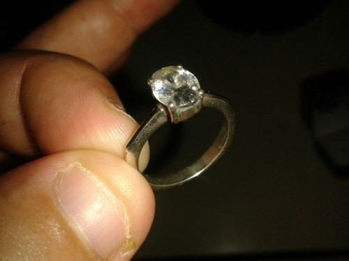 anillo de plata $1800