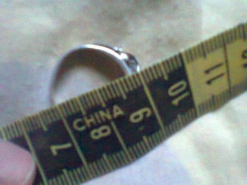 anillo de plata 900 , pesa 2.5gramos x 180000bs