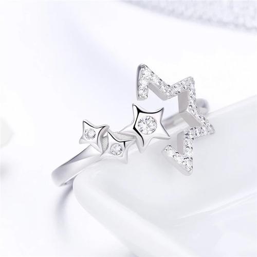 anillo de plata 925 ajustable+caja de terciopelo/joyas mujer