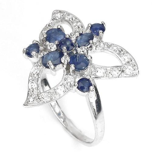 anillo de plata 925 bañado en oro blanco 14 kilates