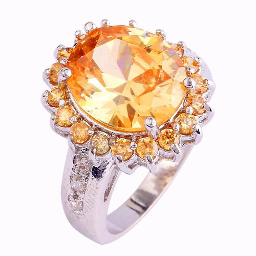 anillo de plata .925 con morganita  # 10