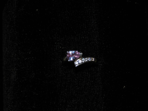 anillo de plata .925 esterlina solida con amatista royal