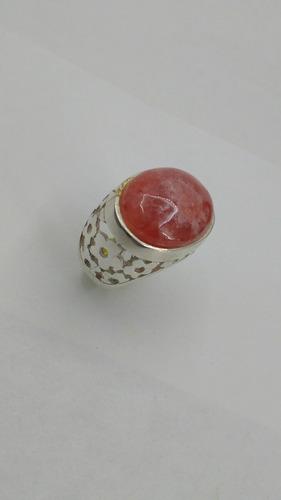 anillo de plata 925 rodo crosita