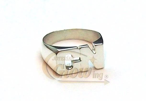 76ddffb51161 Anillo De Plata 925 Sello 2 Letras Caladas Garantía Envío -   1.555 ...