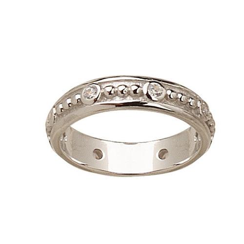 anillo de plata 925 sin fin con cubic modelo 10271