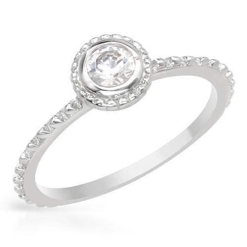anillo de plata 925 solitario compromiso promesa