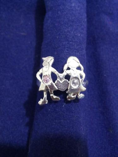 anillo de plata .925 talla 8 niño y niña
