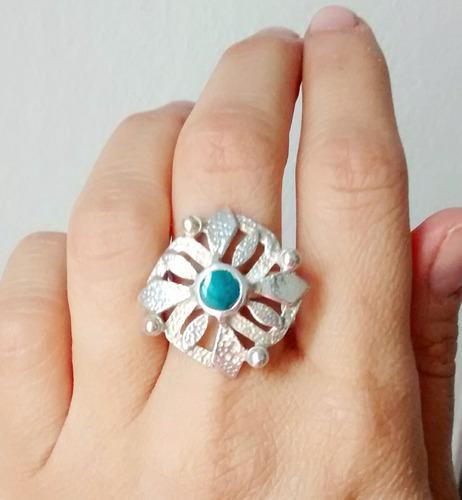 anillo de plata 950 con piedra