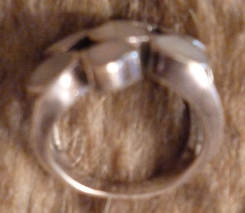 anillo de plata con madre perla talla 7