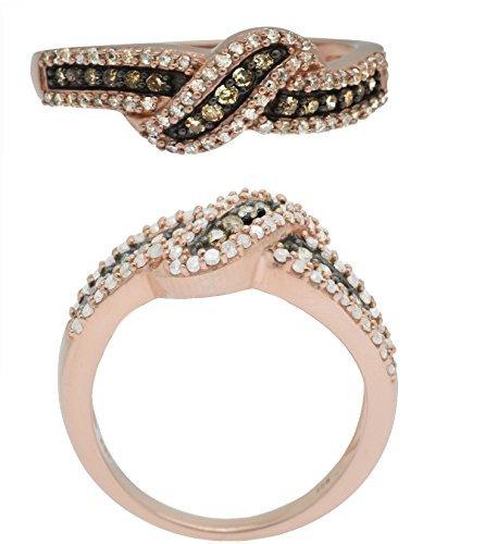 anillo de plata esterlina con diamante de 1/2 cttw. color