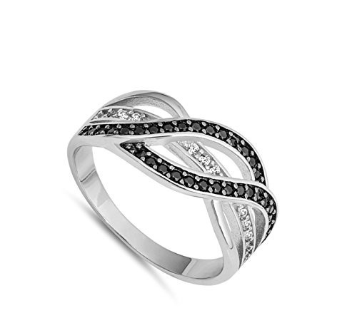 anillo de plata esterlina con lazo, elija su color