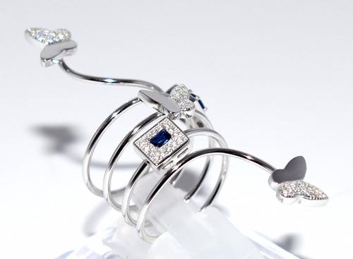 anillo de plata rodinada con microdiamantado   guilad yll08