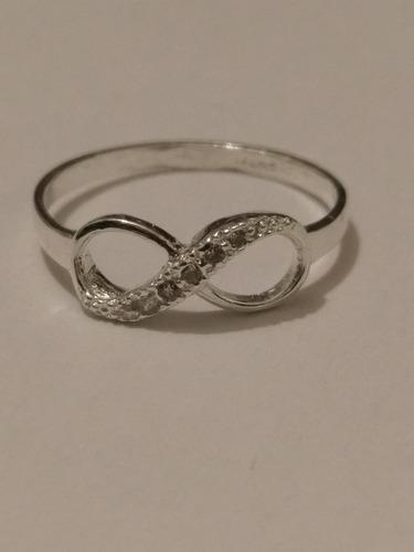 anillo de plata solida de infinito envio gratis