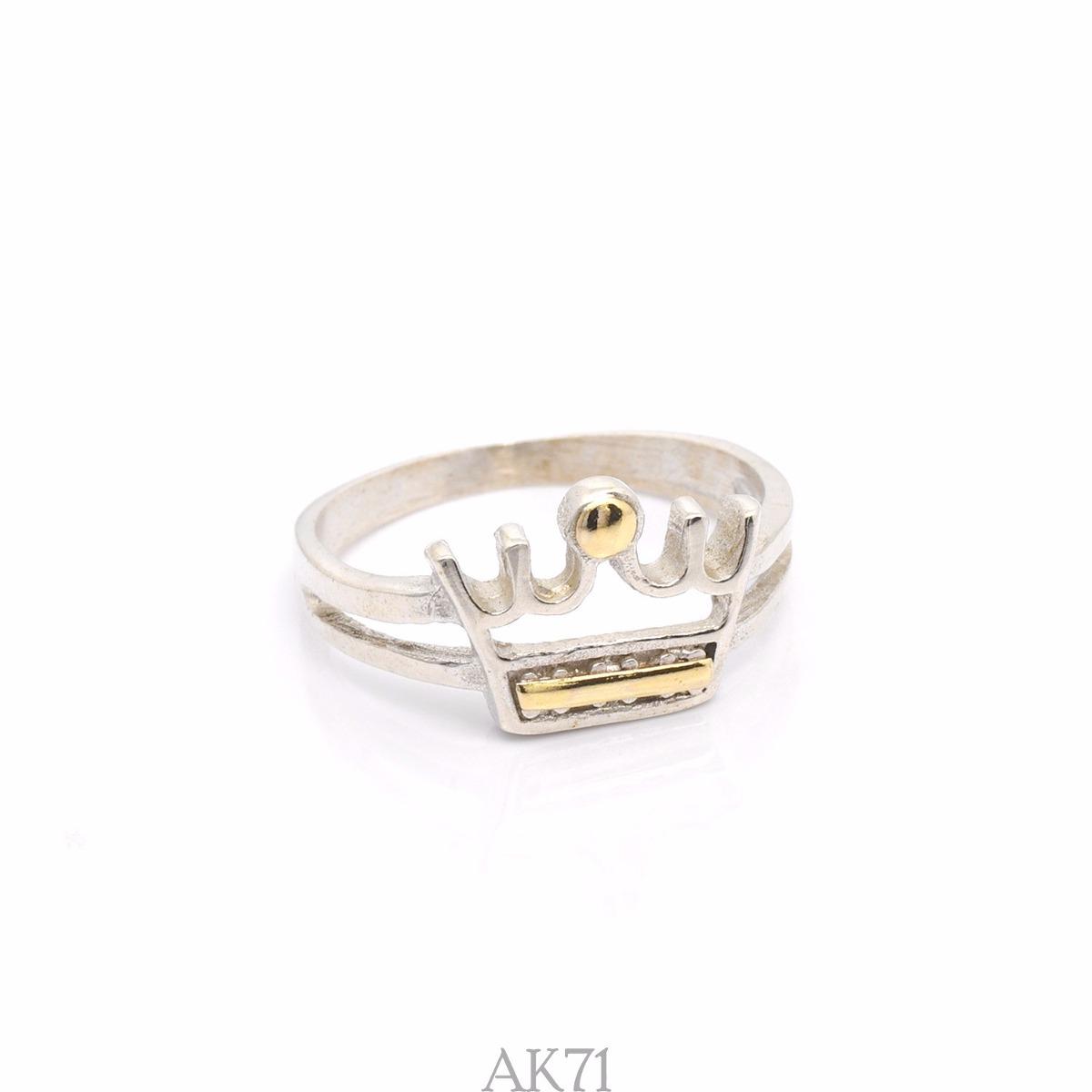 22302a76520a anillo de plata y oro - corona - ak71. Cargando zoom.