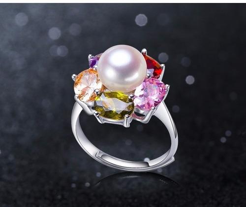 anillo de plata y perla cultivada a 45 soles