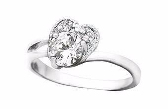 anillo de promesa simbolo de corazón medidas #6 #7 #8 y #9