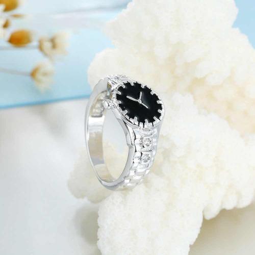 anillo de reloj rolex plata ley .925 regalo para mama 2020