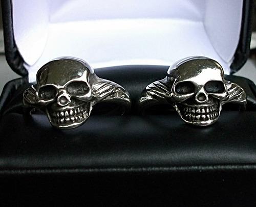 anillo de skull calavera craneo en plata fina ley .925