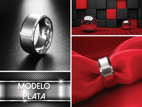 anillo de titanio liso remate unisex + precio de mayoreo