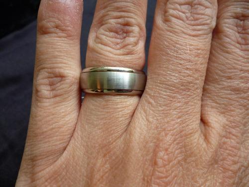 anillo de titanio liso tallas 7,5 y 8