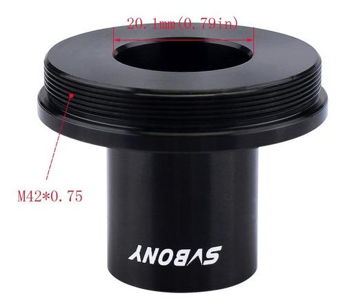 anillo del adaptador + t2 cámara microscopio t adaptador par