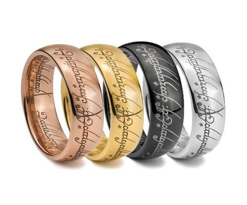 anillo del amor tungsteno x señor de  anillos elfos