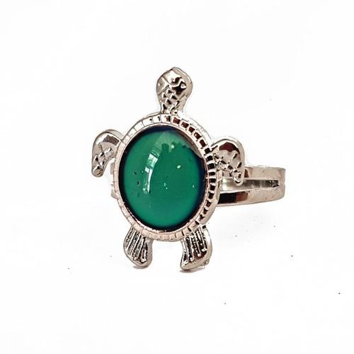 anillo del humor cambia de color ajustable tortuga