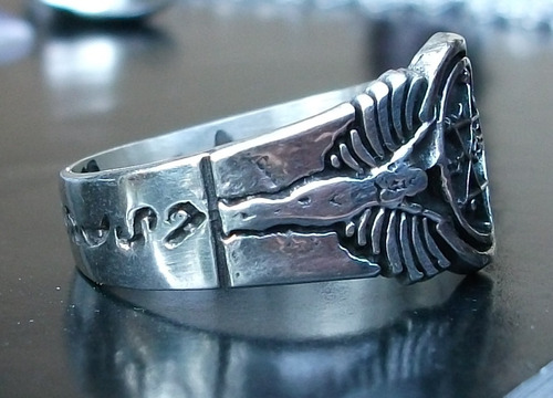 anillo del rey salomón en plata fina .925