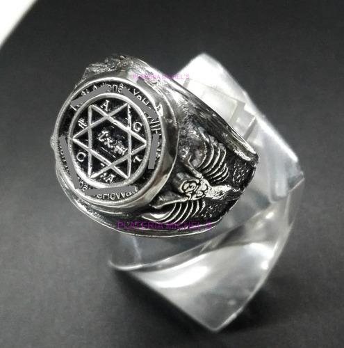 anillo del rey salomon original con ritual, plata solida