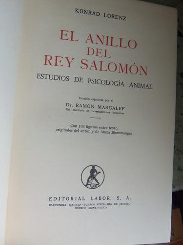 anillo del rey salomon psicologia animal konrad lorenz