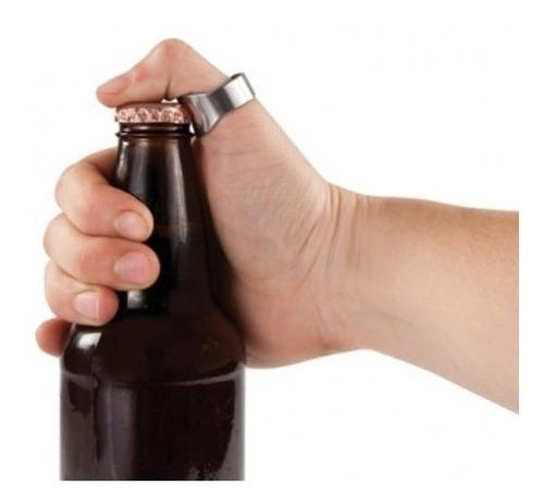anillo destapador de botellas acero inoxidable